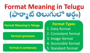 Format Meaning in Telugu
