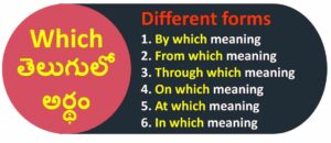 Which meaning in Telugu